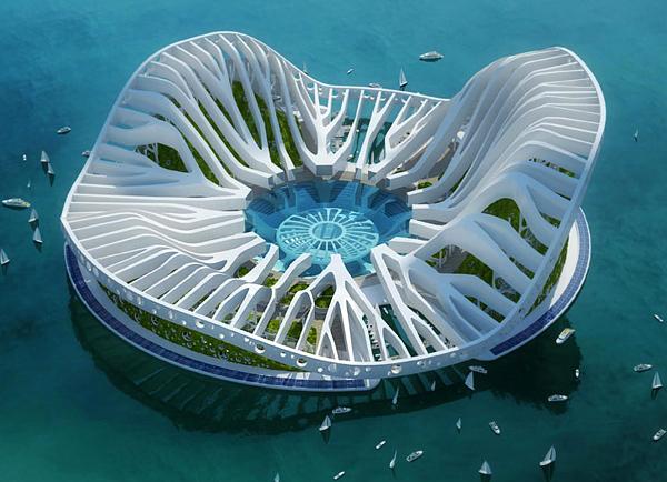 Lilypad - вдъхновена от гигантската водна лилия Victoria Regia.