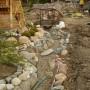 Изграждане на декоративен поток - пускане на водата